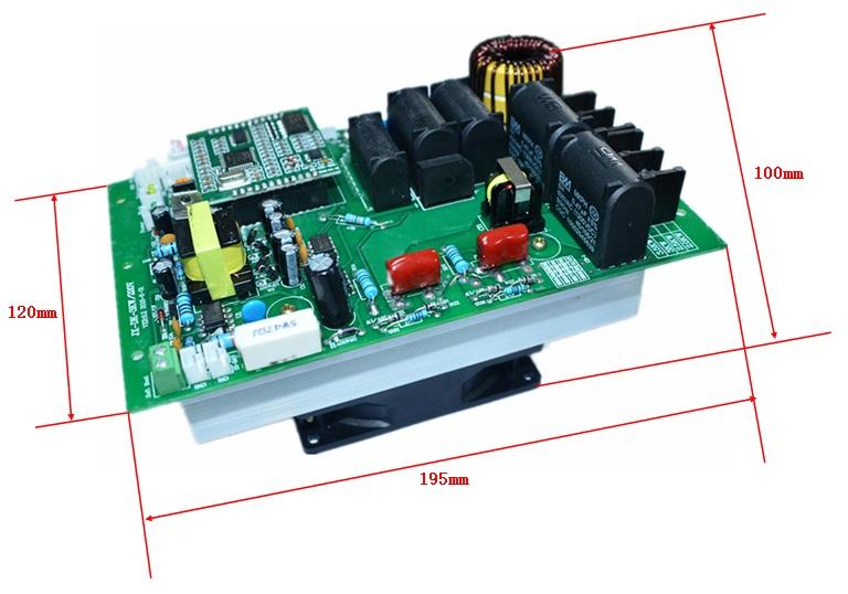 >> 单相数字半桥3kw电磁加热控制板